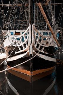 古いサンマロの歴史的な船