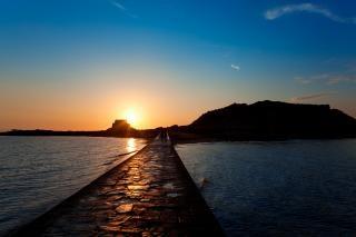 サンマロの夕日の風景方法