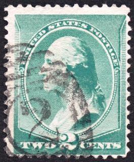 緑のジョージ·ワシントンスタンプ