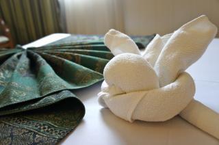 タオルを通してアイコンホテル