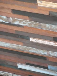 ランダムな木製のパネルの背景