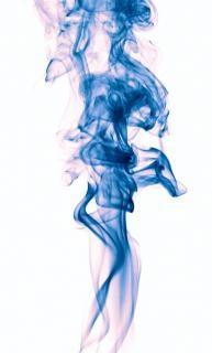 エレガントな青い煙