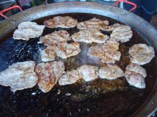 肉の調理場