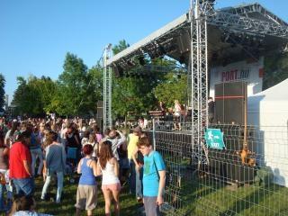 Концерт толпы на улице