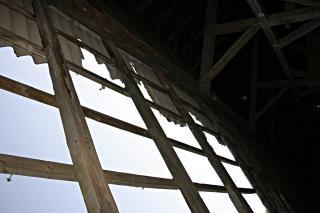 折りたたまれた屋根、構造