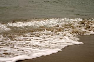 Волн, разбивающихся, океан