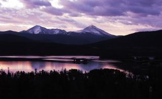 Восход солнца в скалистых горах колорадо