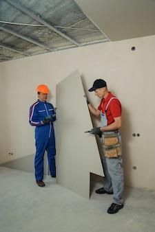 乾式壁のインストーラー