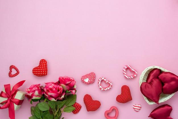 装飾バレンタインデーの背景。