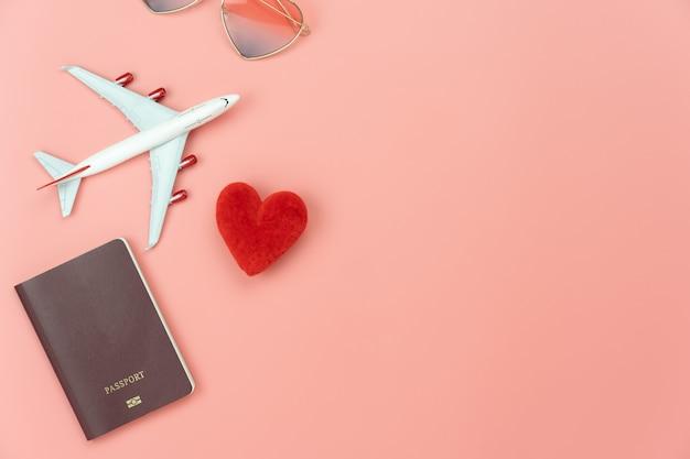 旅行の概念のトップビュー