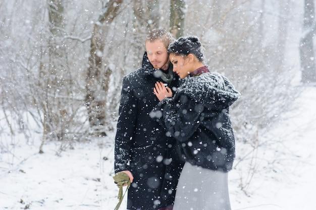 Зимняя прогулка в метель с собакой