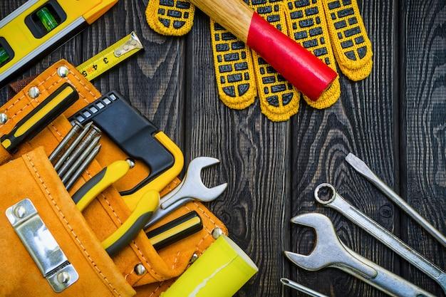 ブラックボードの大工および付属品用バッグのツール