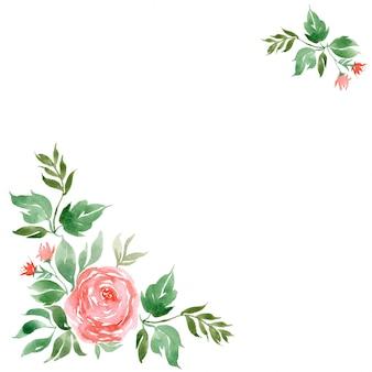 水彩花の水彩イラスト