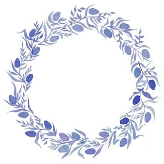 花輪、イースター、招待状と水彩イラスト