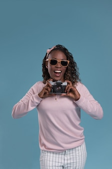 若いアフリカの女性撮影