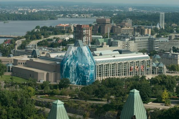 氷山の構造、カナダ国立ギャラリー、国会議事堂、オタワ、オンタリオ、カナダ