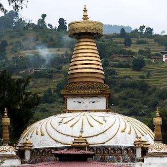 ネパール・ストゥパ、プナカ、ブータンの眺め