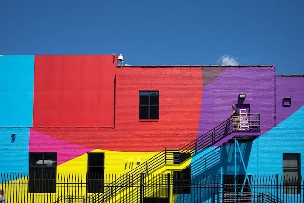 カラフルな建物の外観、ミネアポリス、ヘネピン郡、ミネソタ、米国