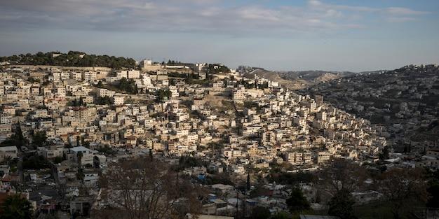 エルサレム、イスラエルの建物の眺め
