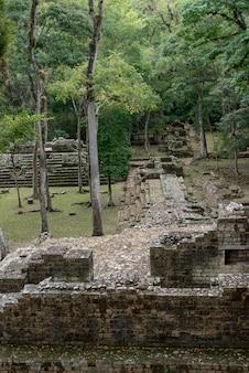 Руины в археологическом месте, копан, копан руинас, копанское отделение, гондурас