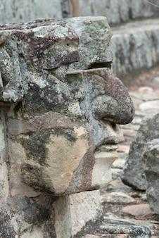 Макрофотография скульптуры, копан, копан руинас, копан департамента, гондурас