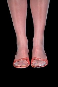 Человеческие ноги, крупный план