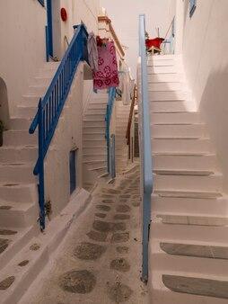 Лестницы в миконос греция