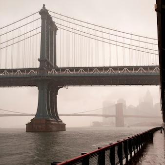 マンハッタン、ニューヨーク、ニューヨークのマンハッタン橋の眺め