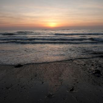 コスタリカの夕焼けの空