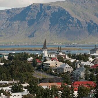 レイキャビクアイスランドのダウンタウンの概要