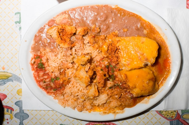 メキシコ料理のプレート