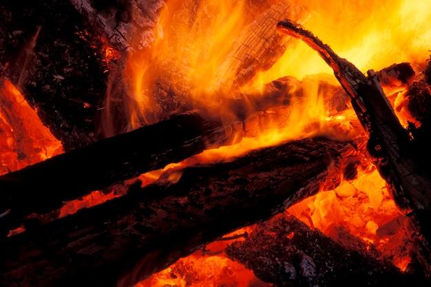 クローズアップの火災