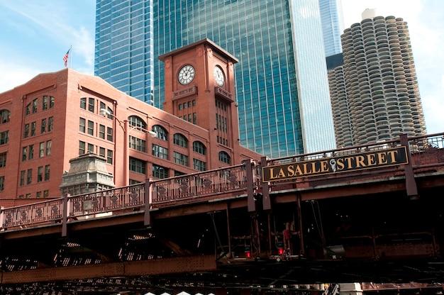 シカゴ、ラサール通りの橋