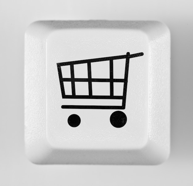 カートアイコンとボタンオンラインショッピング