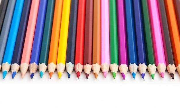 分離された色鉛筆
