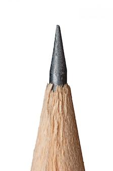 分離された鉛筆マクロの鋭い先端
