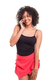 電話での女性