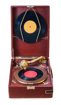 古い孤立した蓄音機