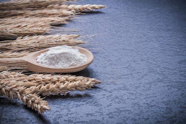 Набор деревянной ложки с пшеничными и ржаными ушами