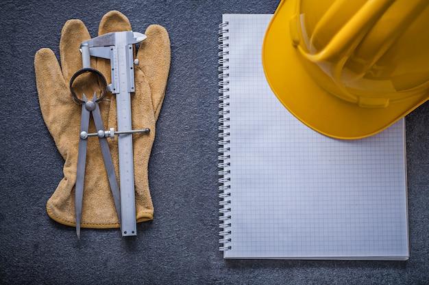 Перчатки защитные суппорта слайдера каска скольжения для ноутбука, концепция строительства
