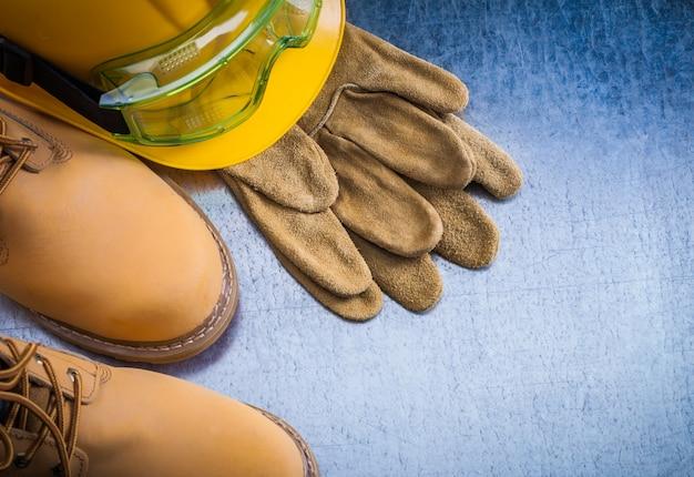 Пара безопасных кружевных сапог кожаные перчатки каску