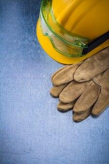 Защитные рабочие перчатки, строительный шлем