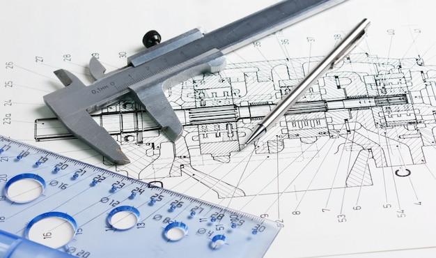 機械製図のキャリパー