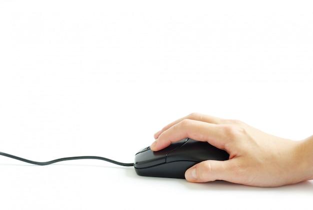 Компьютерная мышь в руке