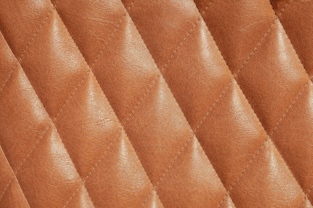 茶色の革の質感の背景、革の質感