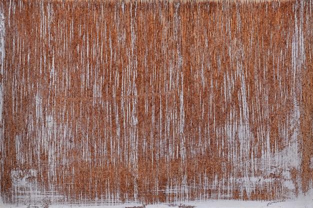 Старая текстура древесины с потертой белой краской для фона