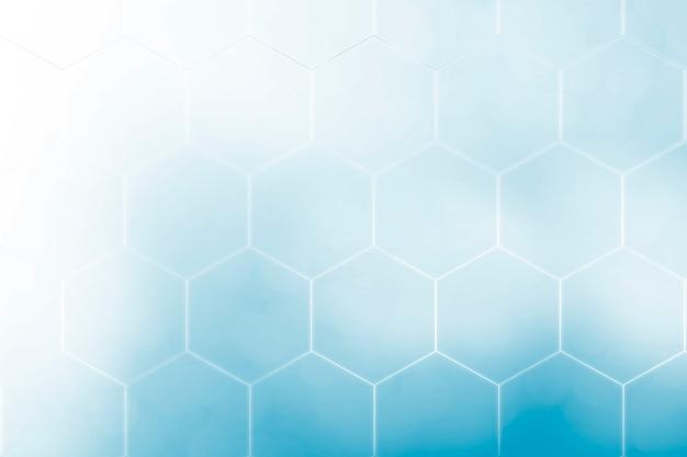 Абстрактный синий фон с технологией шестиугольников и проводов