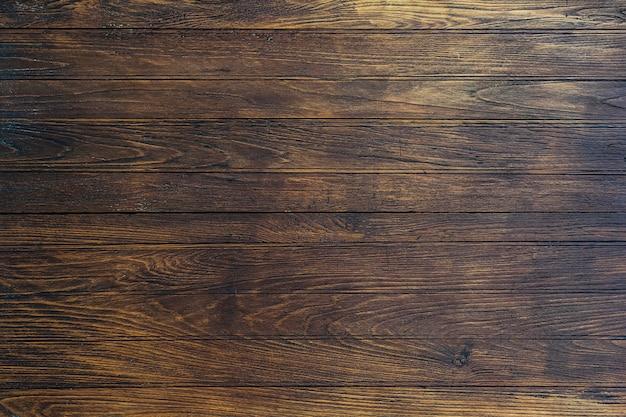 コピースペースを持つ古い木製素材板オーバーヘッド木製壁テクスチャ