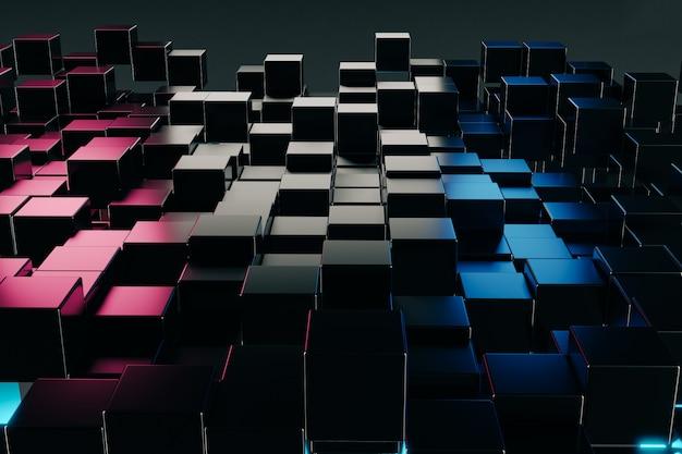 抽象的なキューブ構築ブロックの背景
