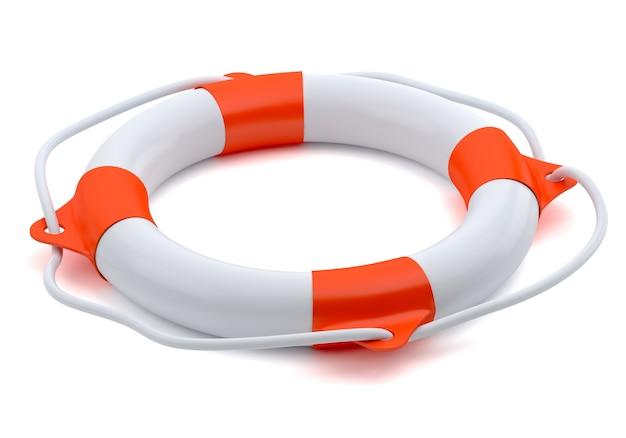 Спасательный круг, изолированные на белом